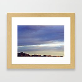 Evening Mountains Framed Art Print
