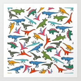 Best Dino Friends Art Print