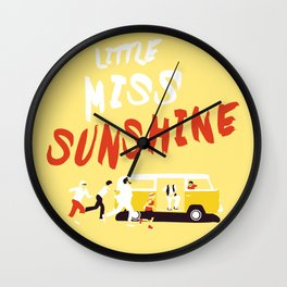 THE ROAD TO MISS  SUNSHINE Wall Clock
