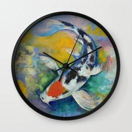 Tancho Sanke Koi Wall Clock