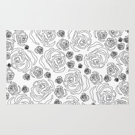 rose repeat Rug