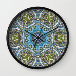 Kaleidoscope Pattern 4 Wall Clock