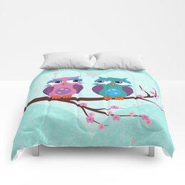 Love owls Comforters