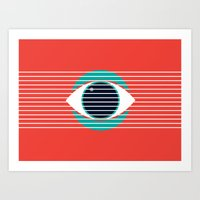 evil eye Art Prints featuring Evil Eye by smoraes