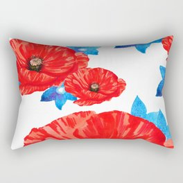Floral Americana Rectangular Pillow