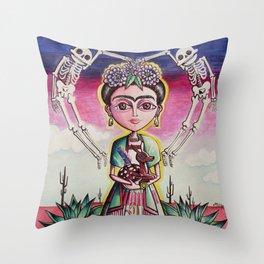 """""""Frida K."""" Throw Pillow"""