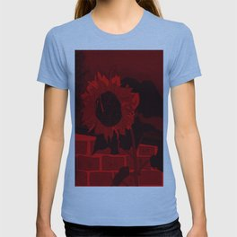Thee Sunflower in Red by Mgyver T-shirt
