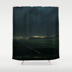 Driving Rain Shower Curtain