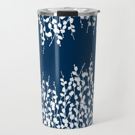 Pussywillow Silhouettes — Midnight Blue Travel Mug