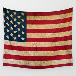 Vintage American Flag Wall Tapestry