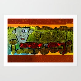 Man on Couch Art Print