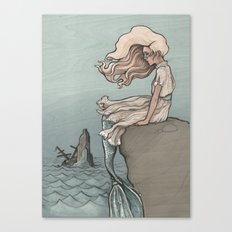 Evolution of a Mermaid Canvas Print