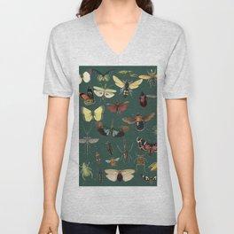 Lovely Butterfly Green Unisex V-Neck