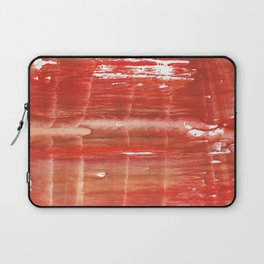 Rowan red stained watercolor texture Laptop Sleeve