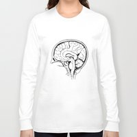 brain Long Sleeve T-shirts featuring Brain by Etiquette