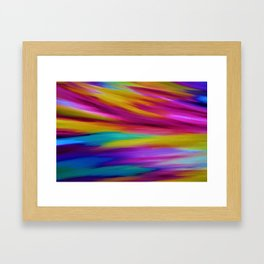 ETHEREAL SKY - Large Abstract Sky Oil Painting Framed Art Print