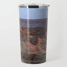 Sheep Mountain Table Catches Sunset Light Travel Mug