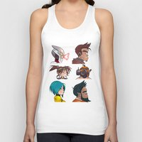 gorillaz Tank Tops featuring Bandit Days by Philtomato