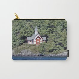St Isaac Jogues Chapel, Hecker Island (Lake George, NY) Carry-All Pouch
