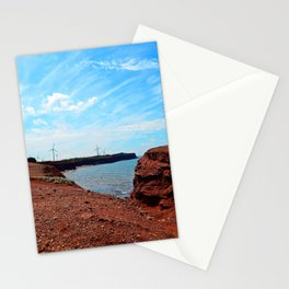 Cliffside Wind Turbines Stationery Cards