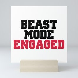 Beast Mode Engaged Gym Quote Mini Art Print