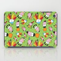 thanksgiving iPad Cases featuring Thanksgiving Crew by Pig & Pumpkin