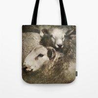sheep Tote Bags featuring Sheep by John Beswick