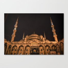 Sultan Ahmed Mosque at night Canvas Print