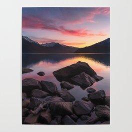 Patagonian sunset Poster