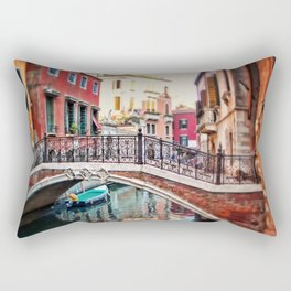 the blue boat Rectangular Pillow