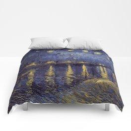 Vincent Van Gogh Starry Night Over The Rhone Comforters