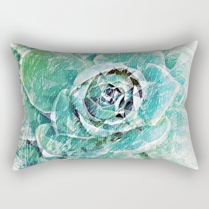 Greenery on Succulent Rectangular Pillow