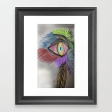 Feather Eye Framed Art Print