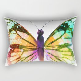 Yellow Butterfly Rectangular Pillow