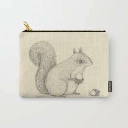 Monochrome Squirrel Carry-All Pouch