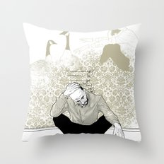 come find me - popshot magazine  Throw Pillow