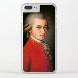 Wolfgang Amadeus Mozart (1756 -1791) by Barbara Krafft (1819) Clear iPhone Case