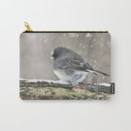 Once Upon a Snow Bird: Junco Carry-All Pouch