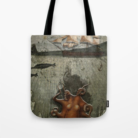 paper III :: octopus/ship Tote Bag