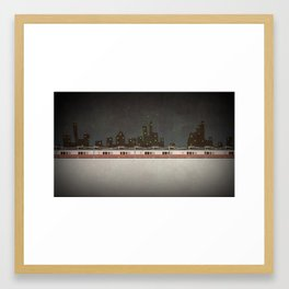 Train Scene Framed Art Print