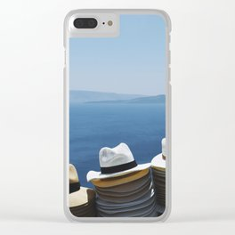 Hats made in Santorini Clear iPhone Case