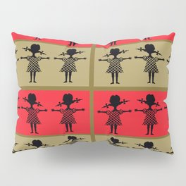 Little Girl Silhouette Pillow Sham