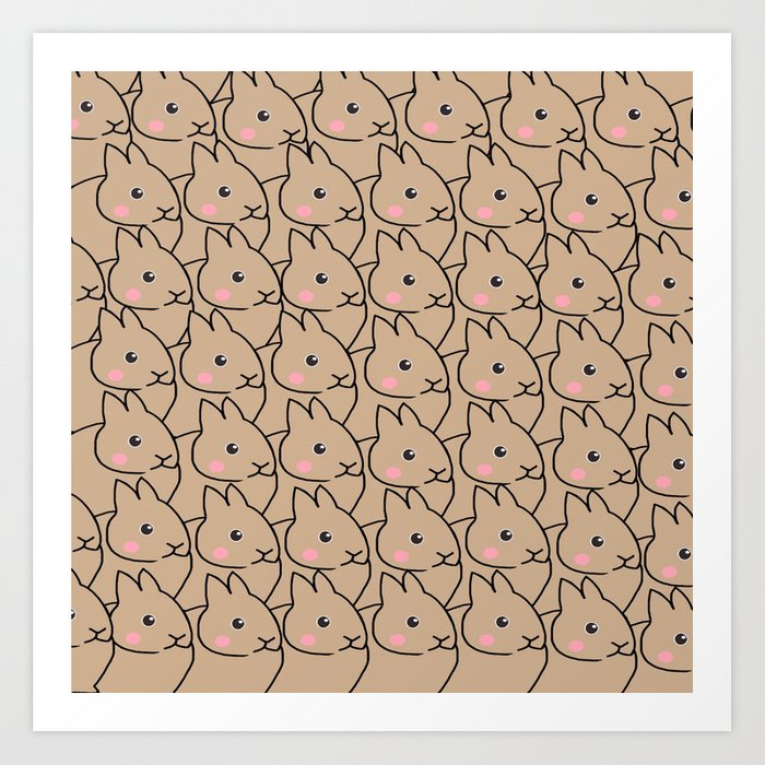 Rabbit-70 Art Print