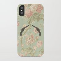guns iPhone & iPod Cases featuring Guns & Flowers by fyyff