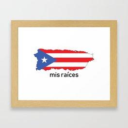 Mis Raices Framed Art Print
