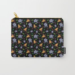 Columbine on Black Carry-All Pouch