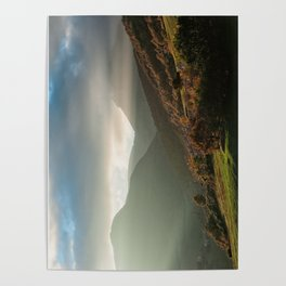 Beautiful autumn sunset near the Monti San Vicino and Canfaito park, Italy Poster