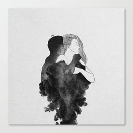 You are my peaceful heaven b&w. Canvas Print