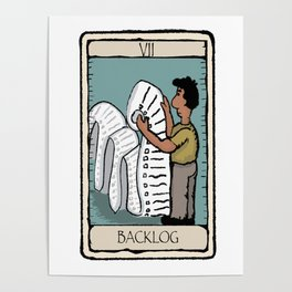 Office Tarot Cards - Series 2 - Agile - Backlog Poster