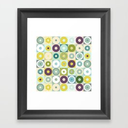 winter geo Framed Art Print